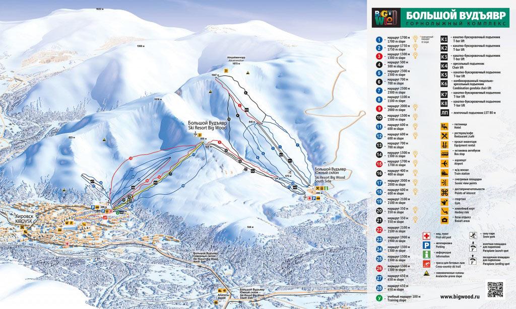 Трассы горнолыжного курорта «Большой Вудъявр»