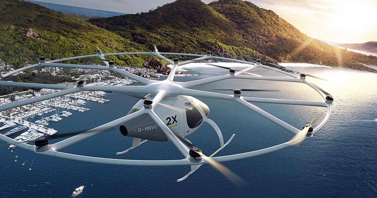 Volocopter 2X в полете
