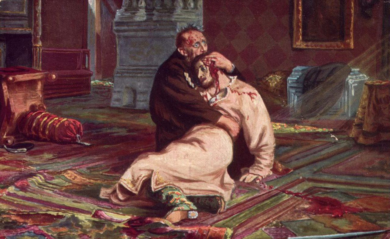 Фото картины - Иван Грозный убивает своего сына