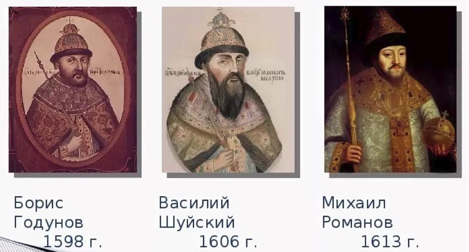 Годунов, Шуйский, Романов - Даты рождения и фото