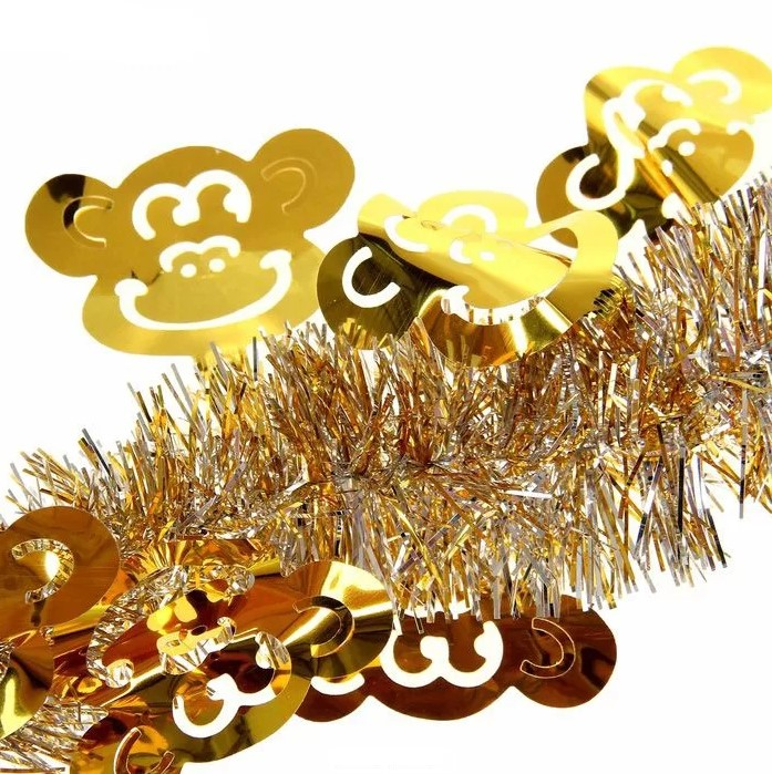 Ёлочная мишура с обезьянками