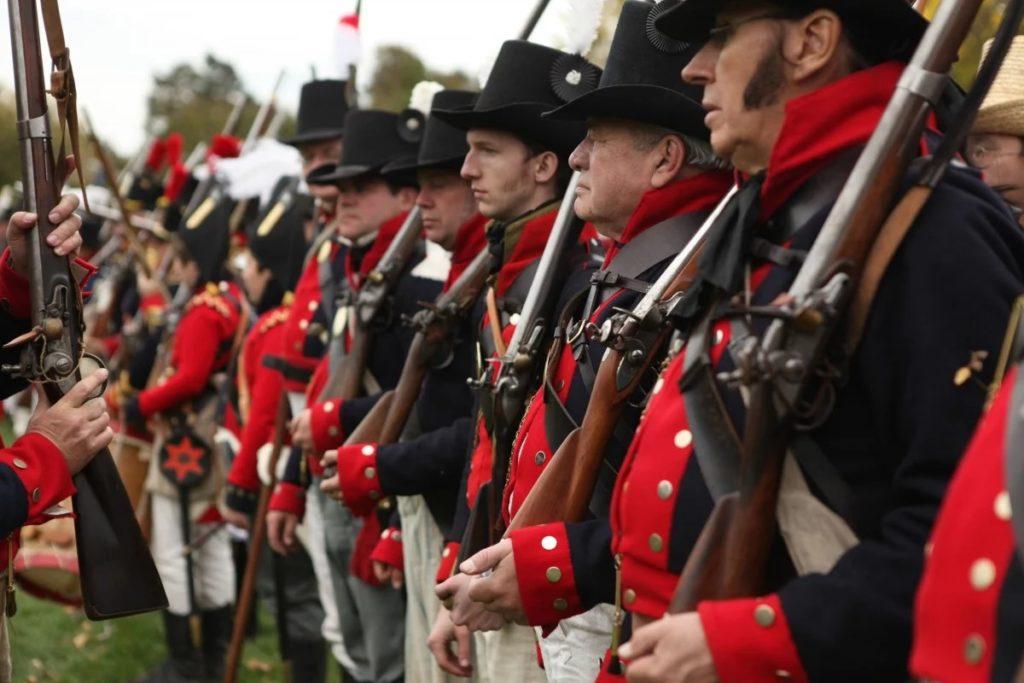 солдаты с пороховыми ружьями